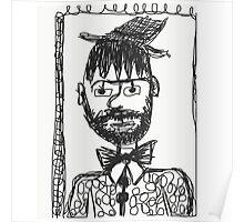 Self portrait 2016 illustration Poster