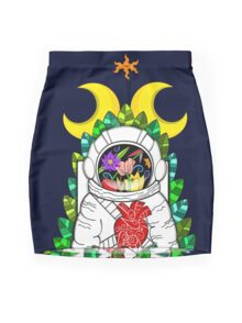 Nature of space Mini Skirt