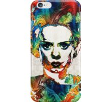 Frankenstein Bride Art - Colorful Monster Bride - By Sharon Cummings iPhone Case/Skin