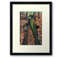 Cleft in the Rock Framed Print