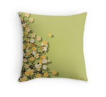 Spring time theme postcard Throw Pillow