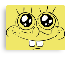 Sponge Bob face Canvas Print