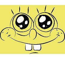 Sponge Bob face Photographic Print