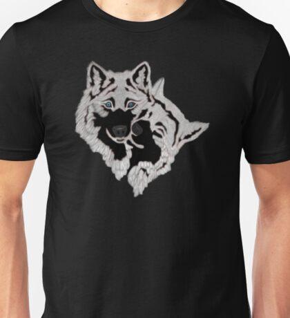 Two White Wolfs  Unisex T-Shirt