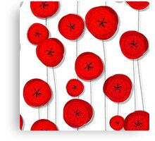 Red poppies pattern Canvas Print