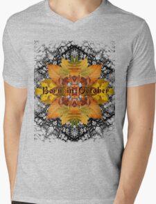Born in October Mens V-Neck T-Shirt