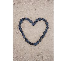 black stone heart Photographic Print