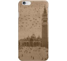 Vintage church of saint Marco and tower bell,Venice,Italy iPhone Case/Skin