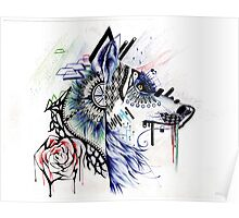 Dubstep Wolf Poster