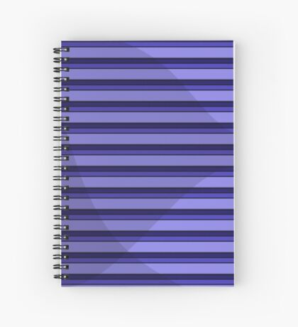 Blue Striped Shade Spiral Notebook