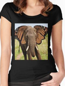 Elephly Women's Fitted Scoop T-Shirt