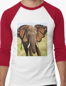 Elephly Men's Baseball ¾ T-Shirt