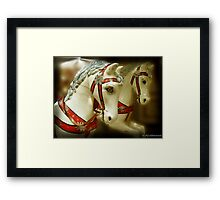 On the old Carousel Framed Print