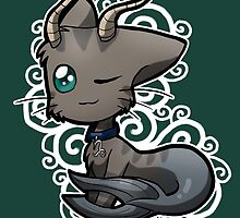 Zodiac Cats - Capricorn by OddworldArt
