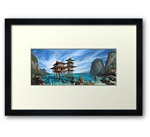 Tropical Temple Framed Print