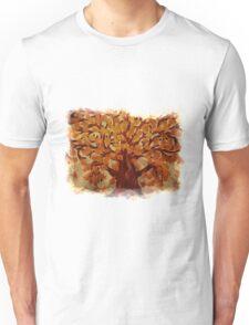 Grunge autumn oak tree Unisex T-Shirt