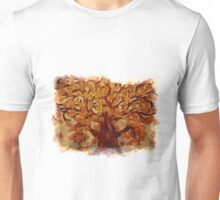 Grunge autumn oak tree Unisex T-Shirt