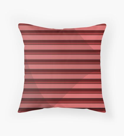 Red Striped Shade Throw Pillow