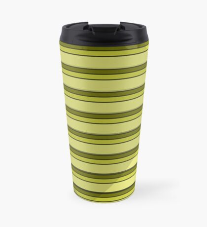 Yellow Striped Shade Travel Mug