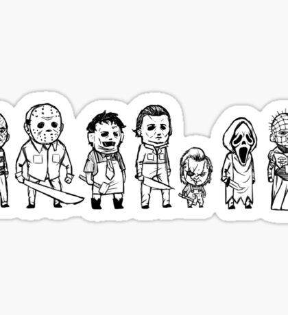 Horror villain sketches Sticker