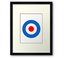 Mod Target Sticker, Target T-shirt, mod sticker, scooter sticker, scooterboy, vespa, lambretta, Punk Framed Print