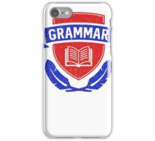 Grammar police academy iPhone Case/Skin
