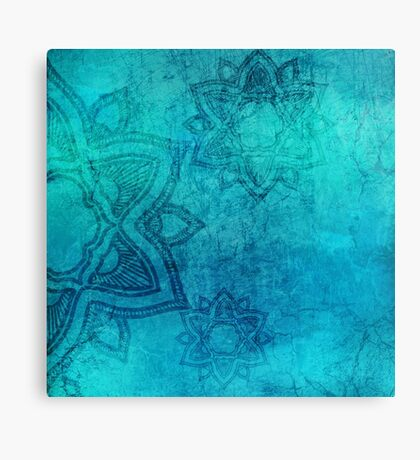 Background Mandala Grunge Texture Pattern Vintage Canvas Print