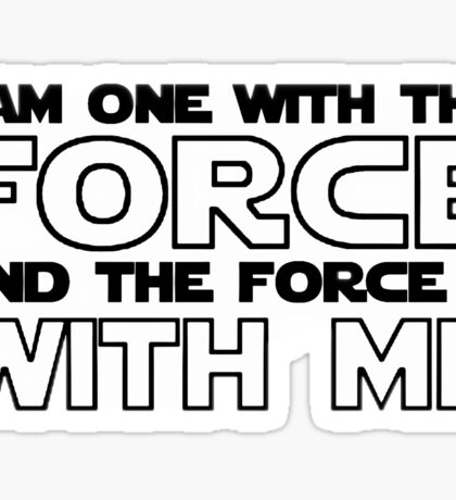 The force - Star Wars Rogue One Sticker
