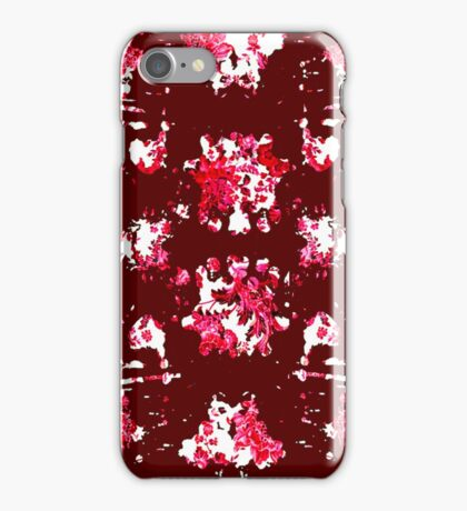 Red China Ink Blot Test iPhone Case/Skin