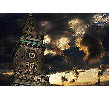 Customs House Clock Tower Photographic Print