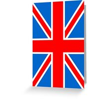 Union Jack Flag,Great Britain, England,Scotland, Wales, Northern Ireland, Country , Punk, Mod Greeting Card