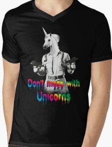 Don't mess with unicorns Mens V-Neck T-Shirt