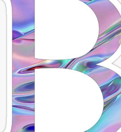 Beta -Holographic/ Chrome- Greek letter Sticker