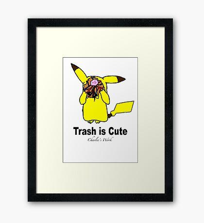 Trash is cute Framed Print