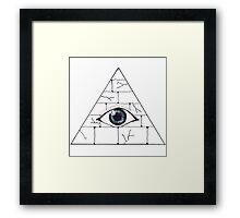 pyramid eye Framed Print