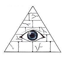 pyramid eye Photographic Print