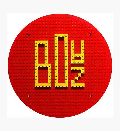 DIGITALBOAZ Lego-Logo Photographic Print