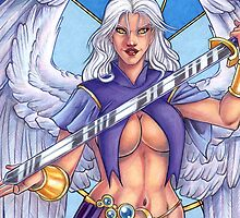 Sword Dancer Angel Iphone Cover by cybercat