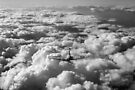 High flight Spitfire black and white version by Gary Eason