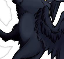 Black Winged Cat Sticker Sticker