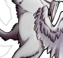 White Winged Kitty Sticker Sticker