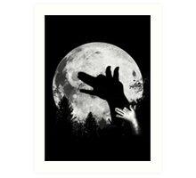 Bark At The Moon! Art Print