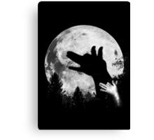 Bark At The Moon! Canvas Print
