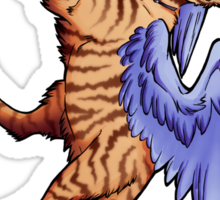 Winged Tabby Cat Sticker Sticker