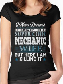 I'd Grow Up Super Cool Mechanic Wife Women's Fitted Scoop T-Shirt