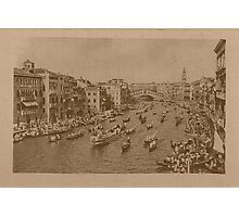 Regate on the Grand Canal,Venice,Italy Photographic Print