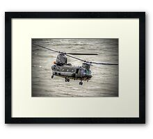 Chinook as Seen From Beachy Head -  HDR - Airbourne 2014 Framed Print