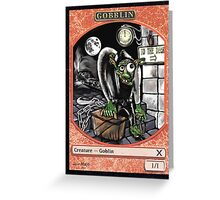 Magic Cards Goblin Igor Young Frankenstein Junior Token Greeting Card