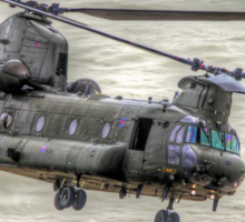 Chinook as Seen From Beachy Head -  HDR - Airbourne 2014 Sticker