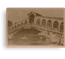 Rialto Bridge Vintage Canvas Print